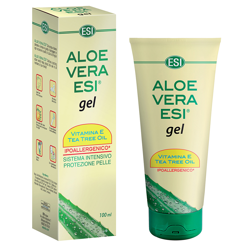 Aloe Vera in gel con tea tree oil per pelle secca e irritata