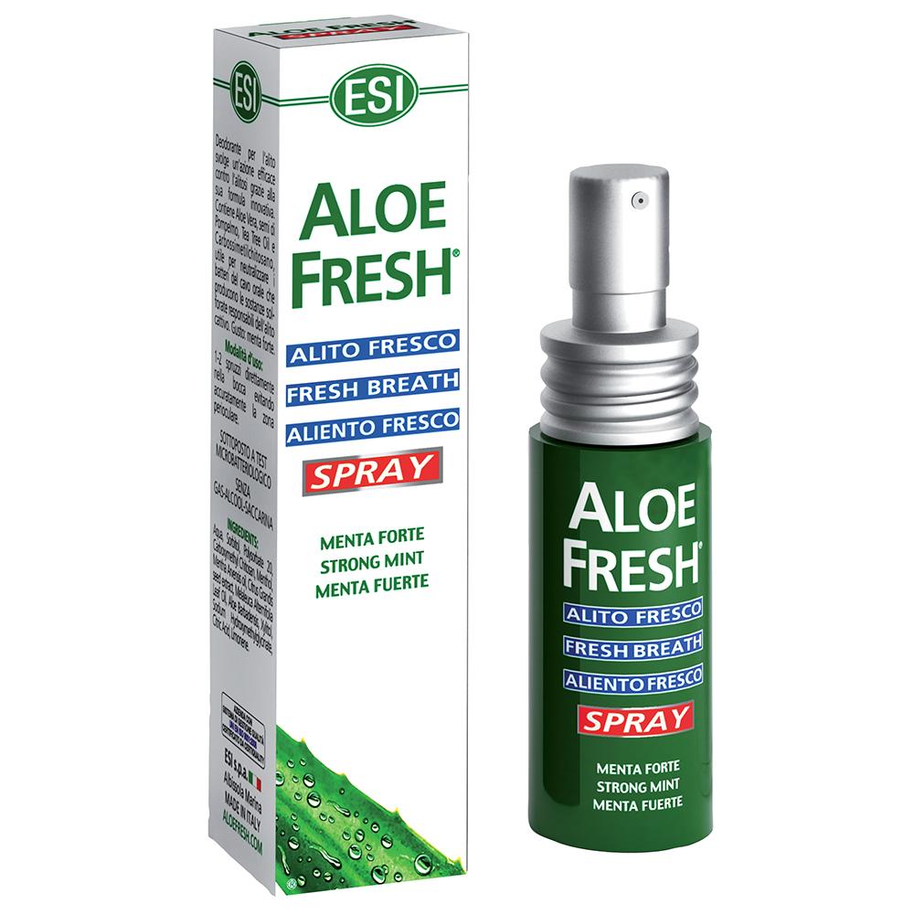 Aloe Fresh Alito Fresco: spray contro l'alitosi al gusto menta fort