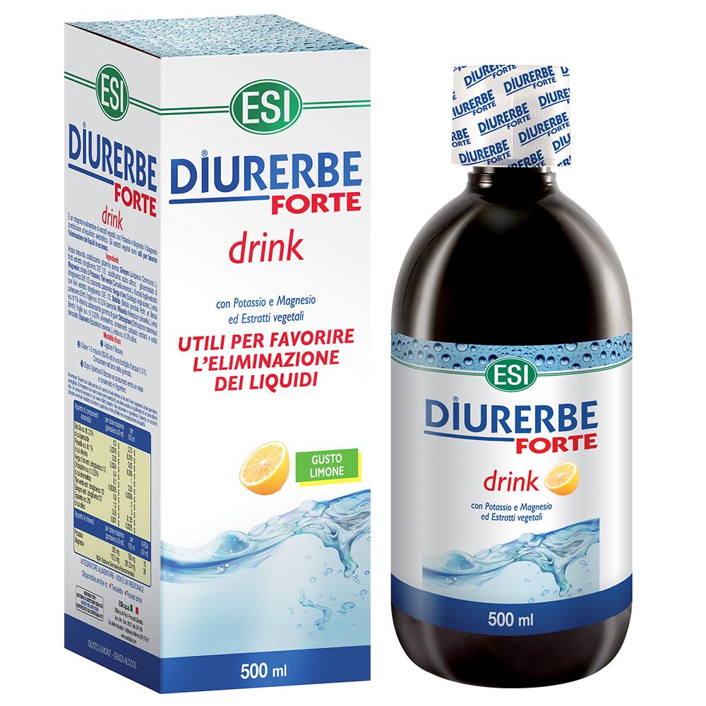 Integratore alimentare da bere diuretico e drenante per i liquidi in eccesso gusto limone