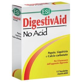 Integratore naturale DigestivAid No Acid ESI, utile contro l'acidità dello stomaco e per migliorare la digestione
