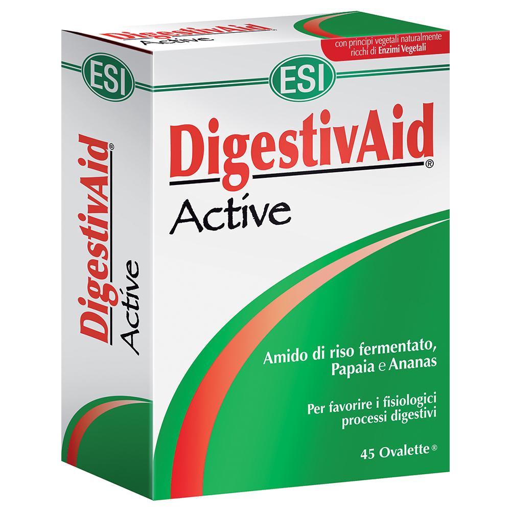 Integratore alimentare DigestivAid Active ESI, utile per favorire l'attività digestiva e contrastare la nausea in maniera naturale