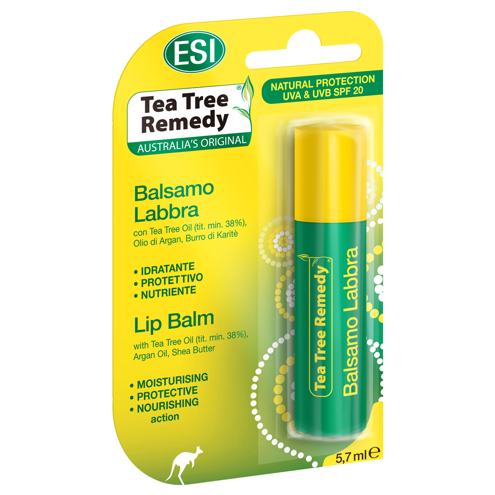 Balsamo per le labbra idratante al Tea Tree Oil ESI
