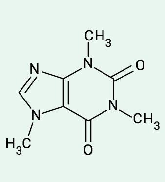 struttura della caffeina