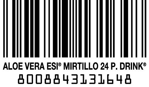 codice a barre Aloe Pocket Mirtillo