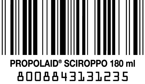 codice a barre propolaid sciroppo