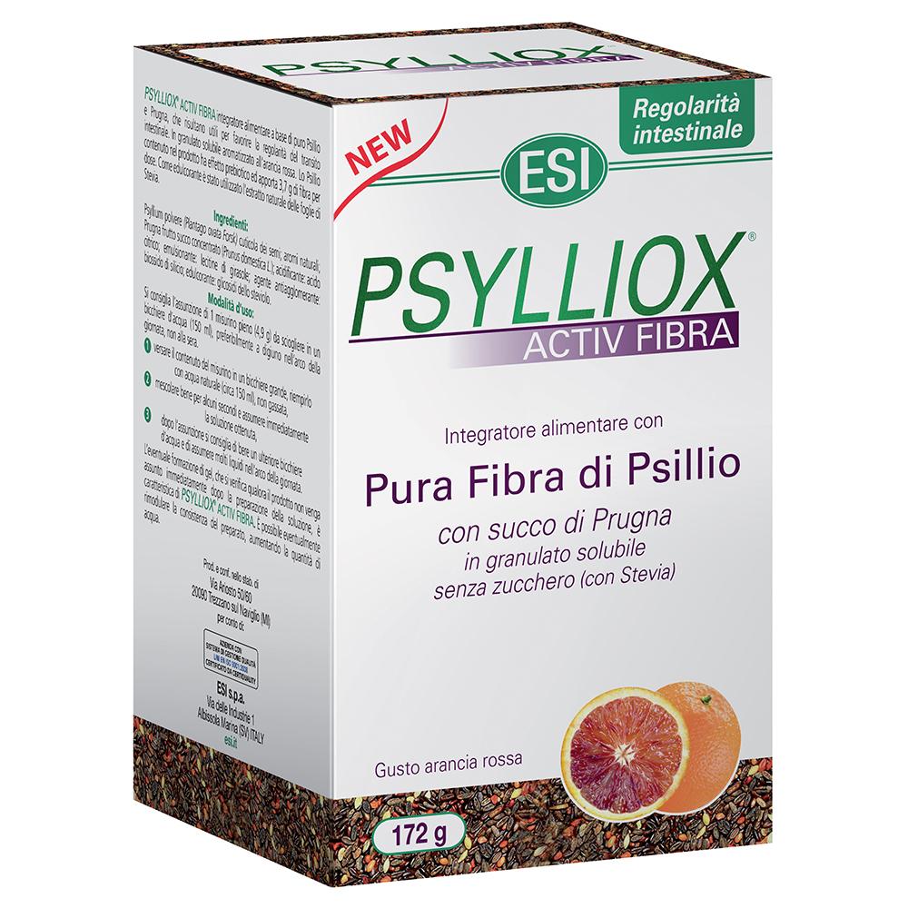 Integratore a base di Psillio e Prugna per favorire l'attività intestinale