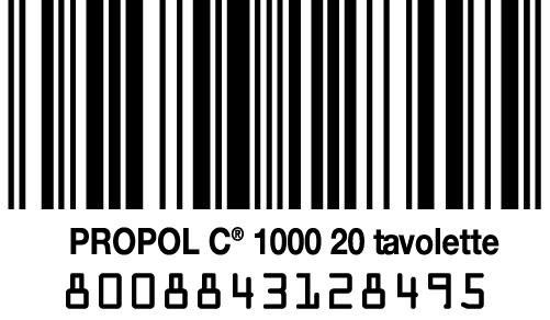 codice a barre propol c
