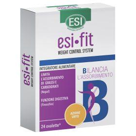 esi•fit B azione urto, integratore alimentare per ridurre l'assorbimento di carboidrati e grassi